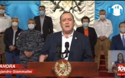 En mensaje presidencial Alejandro Giammattei defiende el presupuesto 2021