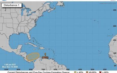 Onda tropical amenaza con convertirse en tormenta, en la misma zona donde comenzó Eta y Iota