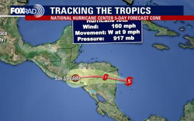 Iota es categoría 5. Centroamérica se prepara, a Guatemala llegaría como depresión tropical