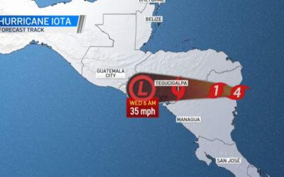 Iota azota a Nicaragua con categoría 4 ¿Cómo llegaría a Guatemala según INSIVUMEH?