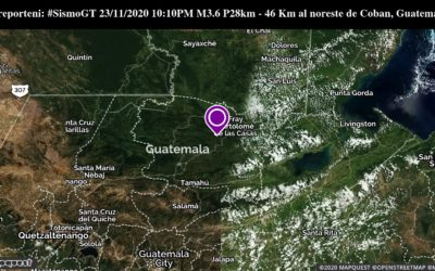 Cuatro sismos en menos de diez horas, en territorio afectado por lluvias en Guatemala