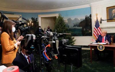 Trump dice que dejará la Casa Blanca si Biden gana la votación en el colegio electoral