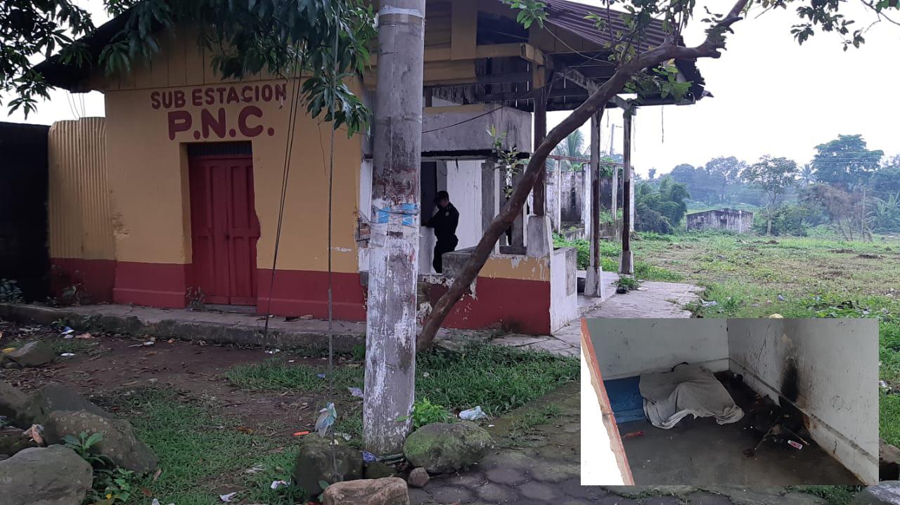 Encuentran cadáver en estructura de vivienda que utiliza la PNC para el carnaval de Mazatenango