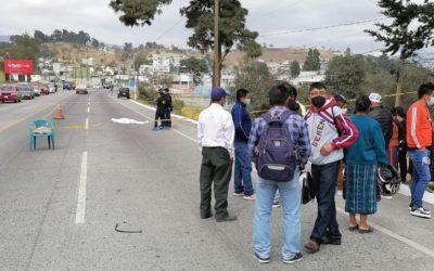 Mujer con cinco meses de embarazo murió atropellada en la ruta Xela – Salcajá