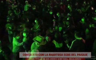 En plena pandemia, San Andrés Semetabaj celebra conciertos por feria patronal