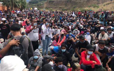 Unos 4 mil migrantes siguen varados en Chiquimula