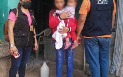 PNC rescata a menor de 13 años y a su hija de un año de nacida