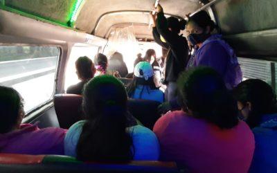 Por incumplimiento de medidas en buses, a partir de hoy autoridades de Quetzaltenango incrementarán operativos