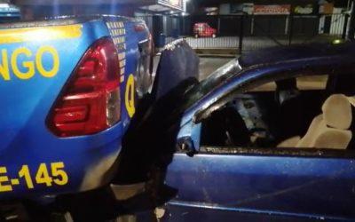 Un capturado tras accidente en Avenida La Independencia, que involucró a patrulla de PNC