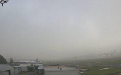 Alerta verde por neblina en el Aeropuerto La Aurora