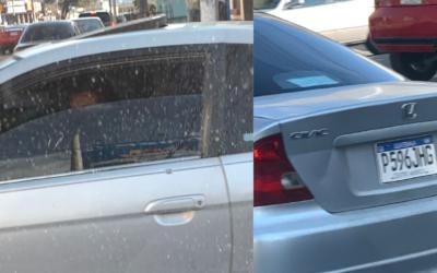 Le ofrecieron guiarlo pero respondió con enojo y colisionó contra vehículo. Reporta seguidor en la zona 3 de Xela