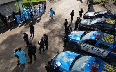 Segundo día de operativo de control en el ingreso a la Granja Penal Cantel