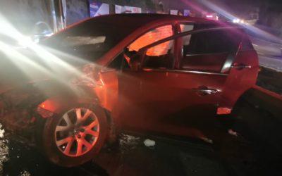 Piloto originario de San Francisco El Alto, se accidenta en Autopista Los Altos