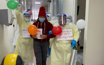 Paciente vence al coronavirus 42 días después luego de estar internada en estado crítico